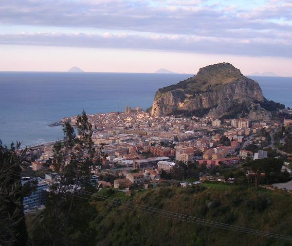 VIEW ON CEFALU' SICILY FROM THE APARTMENTS L'ARCA